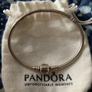 Small Pandora bracelet 6.75 inches